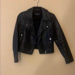 Topshop Petite faux leather jacket